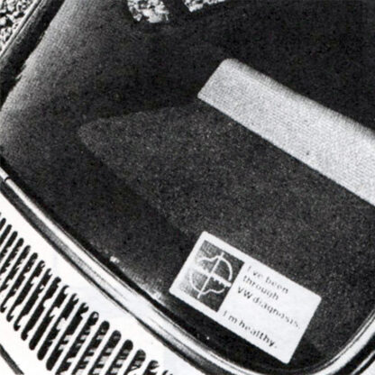 1971 Diagnosis sticker